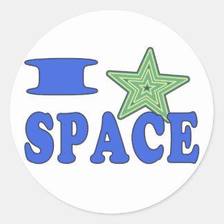 I Heart Space Classic Round Sticker