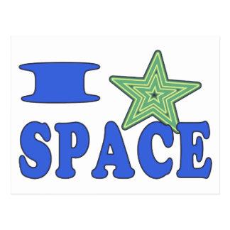 I Heart Space Postcard