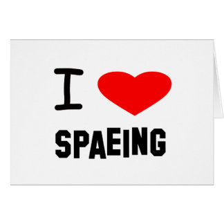 I Heart spaeing Card
