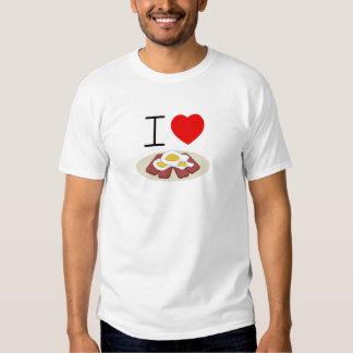 i heart spam and eggs adult tee
