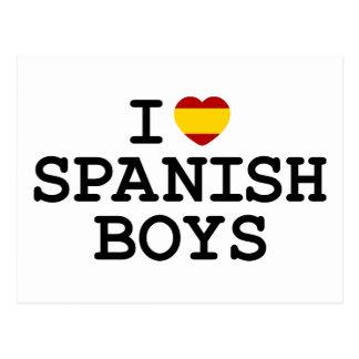 I Heart Spanish Boys Postcard