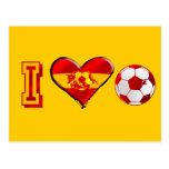 I heart Spanish Soccer Postcards