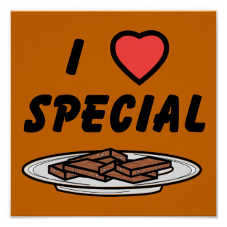 I Heart Special Brownies Poster