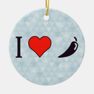 I Heart Spicy Vegetable Ceramic Ornament