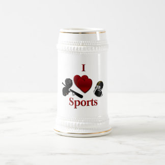 I Heart Sports Beer Stein