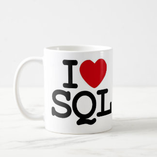 I_heart_SQL Taza Básica Blanca