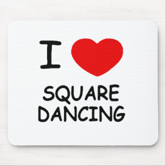 i heart square dancing mouse pad