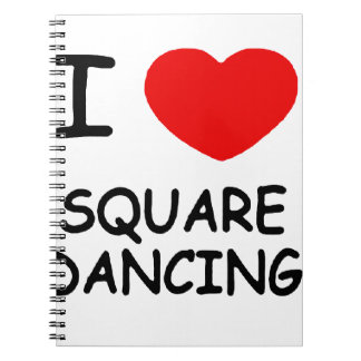 i heart square dancing notebook