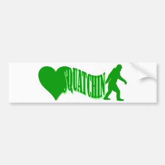I heart squatchin car bumper sticker