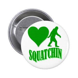 I heart squatchin pinback button