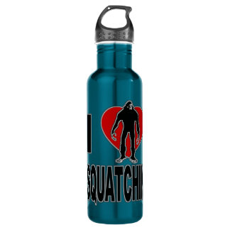 I Heart Squatchin Stainless Steel Water Bottle