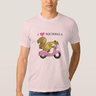 I Heart Squirrels - Love ! Tshirts