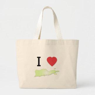 I heart St Croix Large Tote Bag