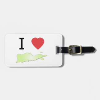 I heart St Croix Luggage Tag