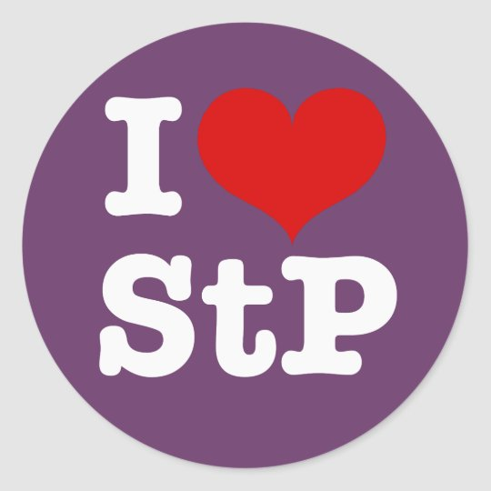 I Heart St. Paul / St. Peter Classic Round Sticker