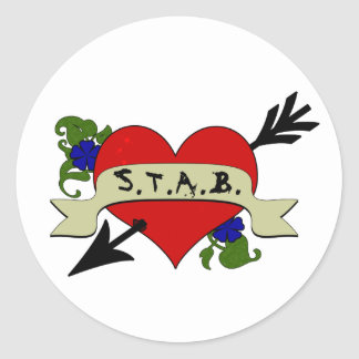 I Heart STAB Stickers