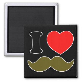 I Heart Stache 2 Inch Square Magnet