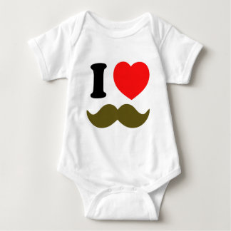 I Heart Stache Baby Bodysuit