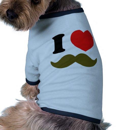 I Heart Stache Dog Tee
