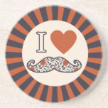 I Heart Stache Drink Coasters