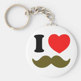I Heart Stache Keychains