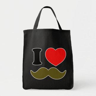 I Heart Stache Tote Bags