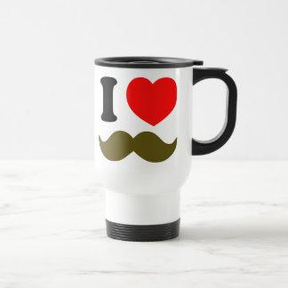 I Heart Stache Travel Mug