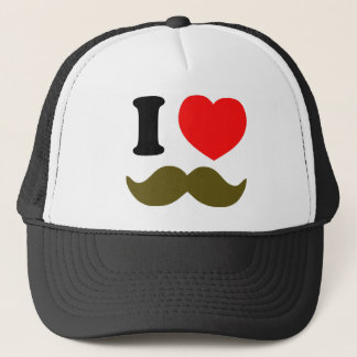 I Heart Stache Trucker Hat
