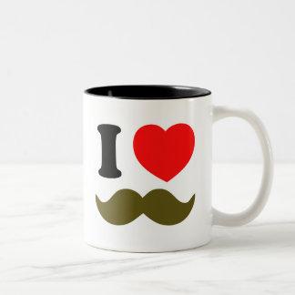 I Heart Stache Two-Tone Coffee Mug