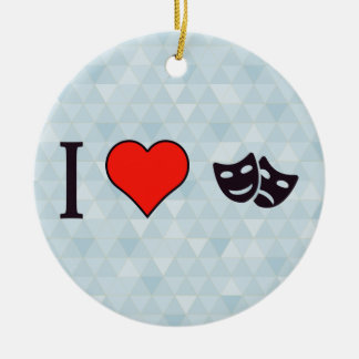 I Heart Stage Plays Ceramic Ornament