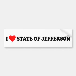 I Heart State of Jefferson Bumper Sticker