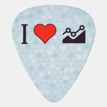 Professional Business I Heart Steady Growth Guitar Pick