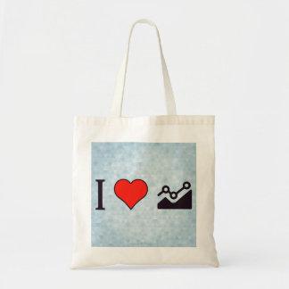 I Heart Steady Growth Tote Bag