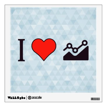 Professional Business I Heart Steady Growth Wall Sticker