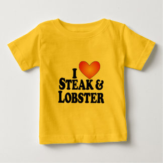 I (heart) Steak & Lobster - Lite Multi-Products Baby T-Shirt