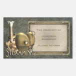 I Heart Steampunk Bookplate Stickers