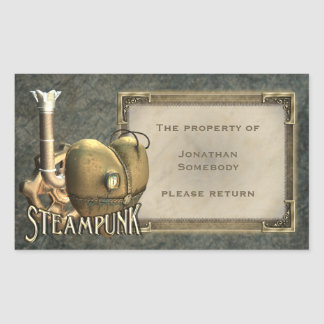 I Heart Steampunk Bookplate Stickers