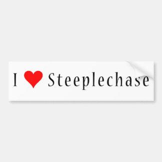 I (heart) Steeplechase Bumper Sticker (White)