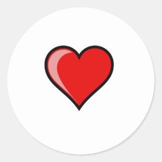 I Heart Round Stickers
