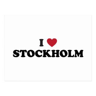 I Heart Stockholm Sweden Postcard