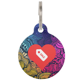 I Heart Store Tags Icon Pet Nametag
