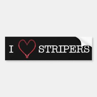 I [Heart] Stripers Bumper Sticker DARK Car Bumper Sticker