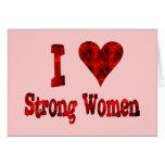 I Heart Strong Women Card