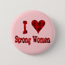I Heart Strong Women Pinback Button