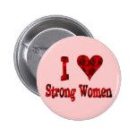 I Heart Strong Women Pins