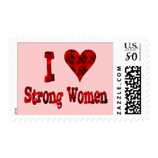 I Heart Strong Women Postage