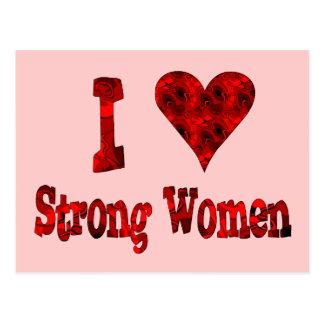 I Heart Strong Women Postcards