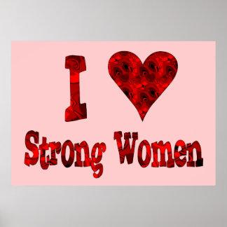 I Heart Strong Women Poster