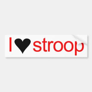 I heart stroop car bumper sticker