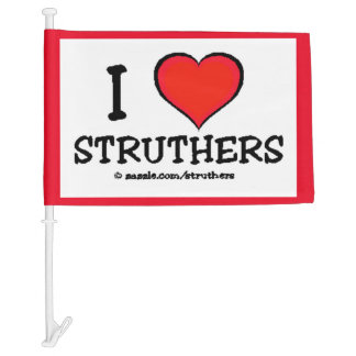 I Heart Struthers Car Flag